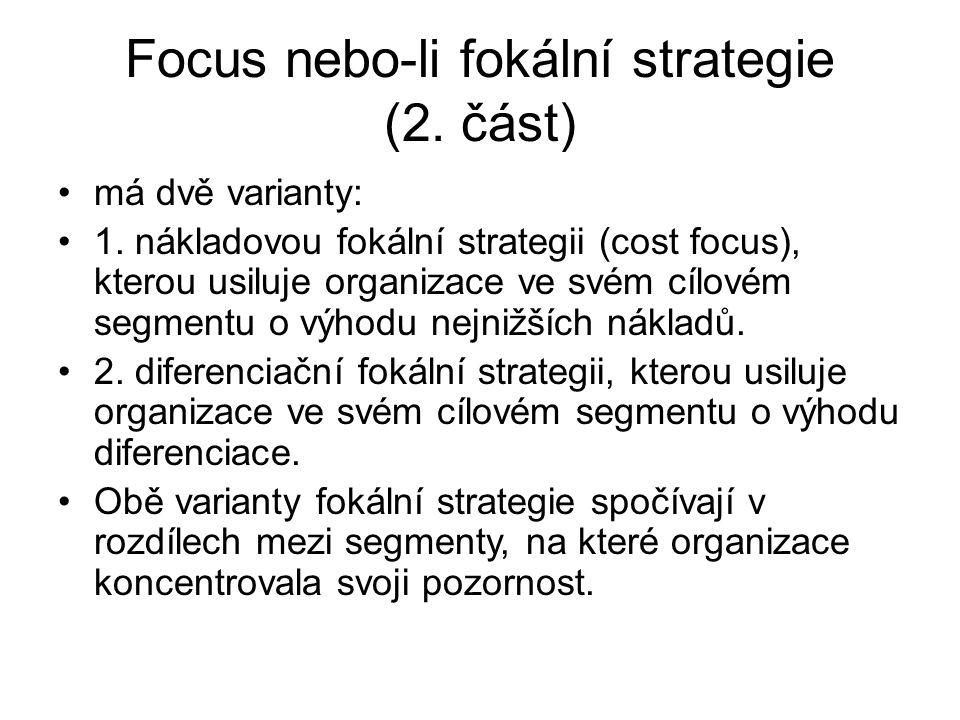 Focus nebo-li fokální strategie (2. část)