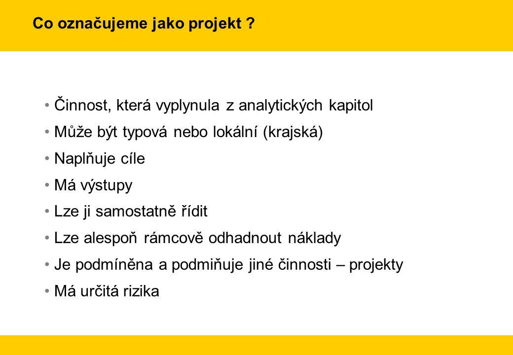 Co označujeme jako projekt