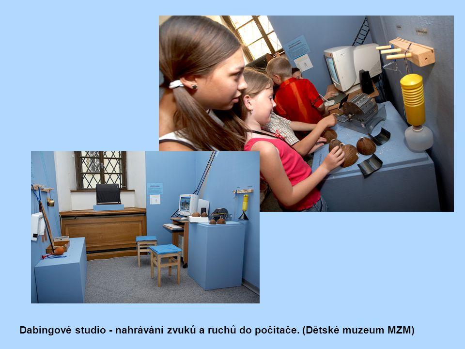 Dabingové studio - nahrávání zvuků a ruchů do počítače