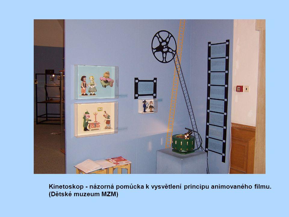 Kinetoskop - názorná pomůcka k vysvětlení principu animovaného filmu.