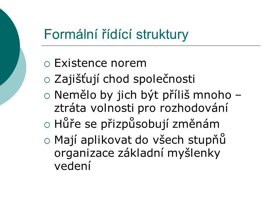 Formální řídící struktury