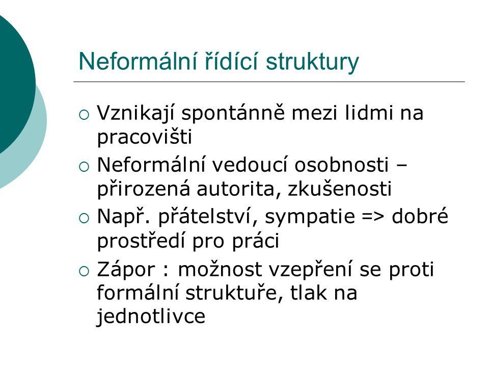Neformální řídící struktury
