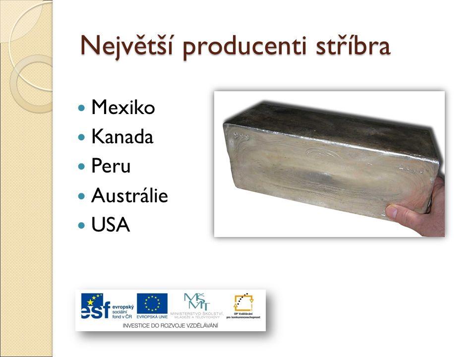 Největší producenti stříbra