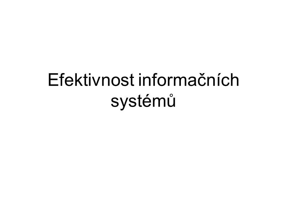 Efektivnost informačních systémů