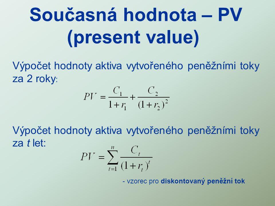 Současná hodnota – PV (present value)
