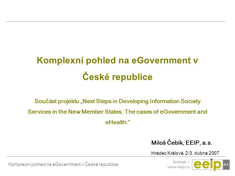 Komplexní pohled na eGovernment v České republice