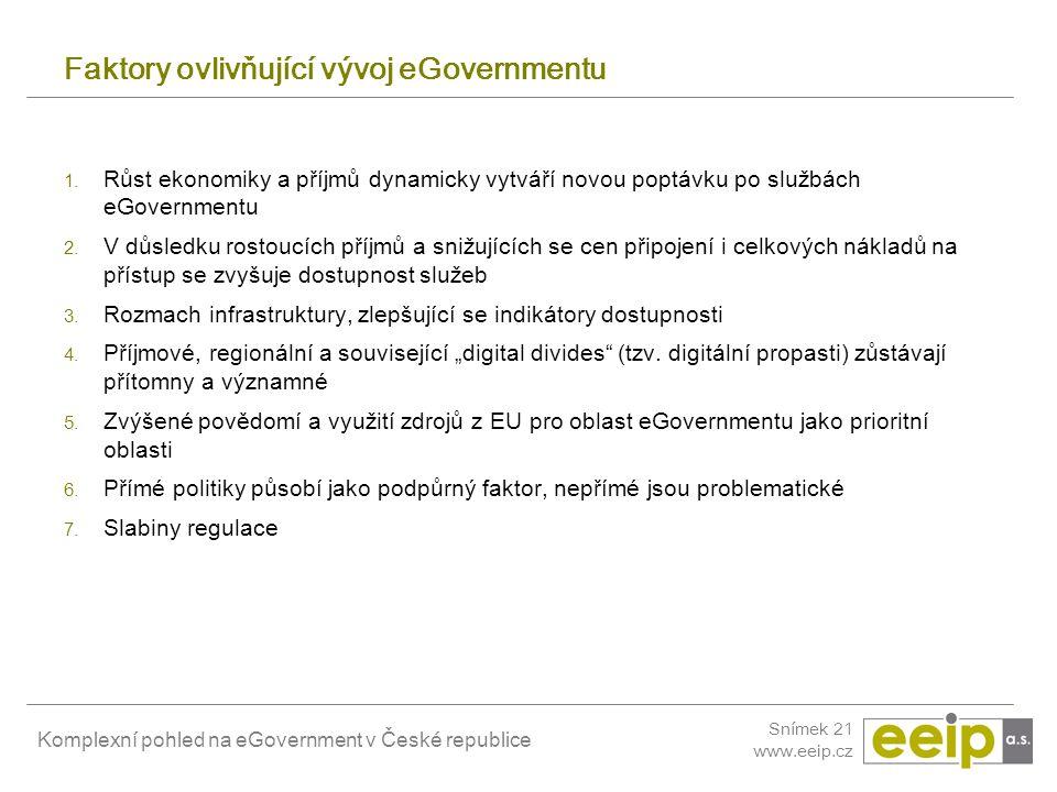 Faktory ovlivňující vývoj eGovernmentu