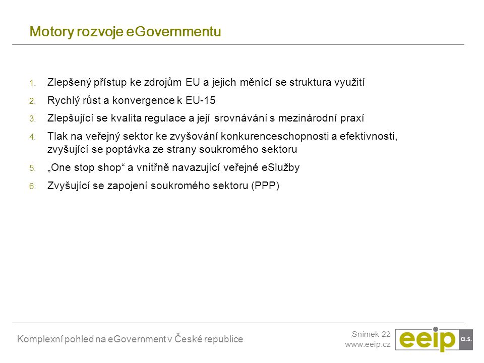 Motory rozvoje eGovernmentu