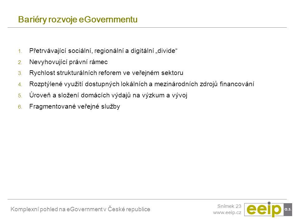 Bariéry rozvoje eGovernmentu