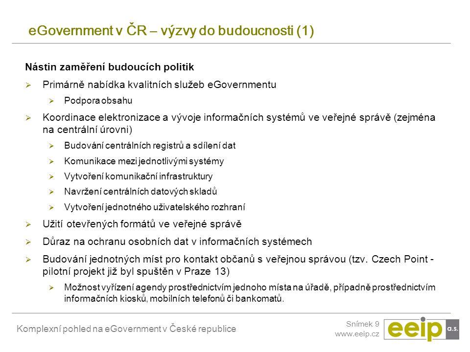 eGovernment v ČR – výzvy do budoucnosti (1)