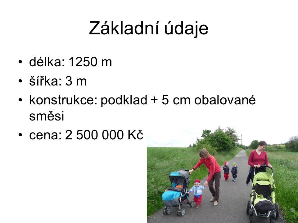 Základní údaje délka: 1250 m šířka: 3 m