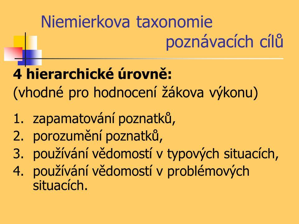 Niemierkova taxonomie poznávacích cílů