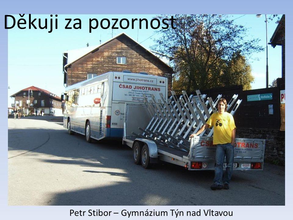 Děkuji za pozornost Petr Stibor – Gymnázium Týn nad Vltavou