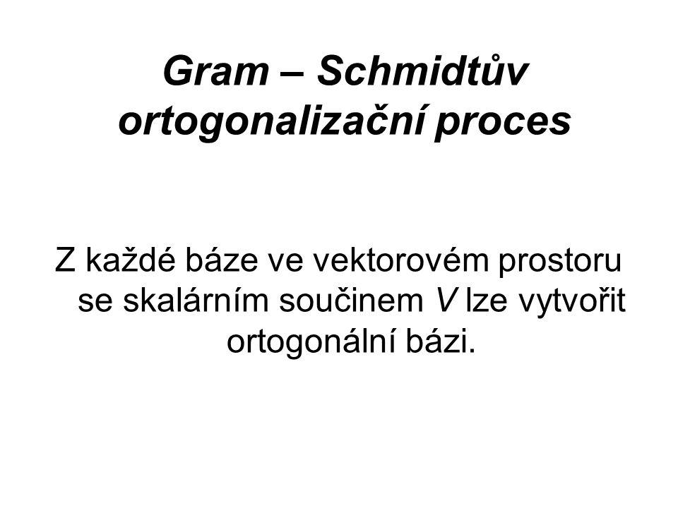 Gram – Schmidtův ortogonalizační proces