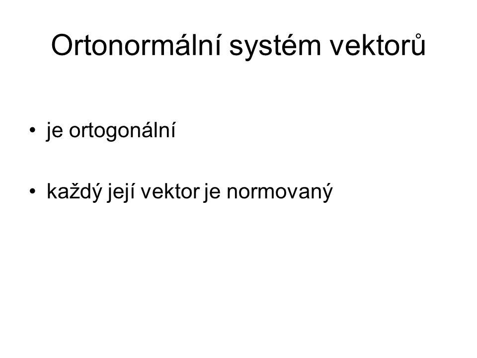 Ortonormální systém vektorů