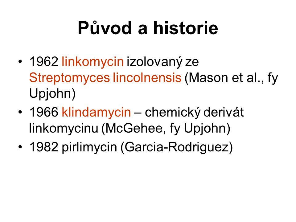 Původ a historie 1962 linkomycin izolovaný ze Streptomyces lincolnensis (Mason et al., fy Upjohn)