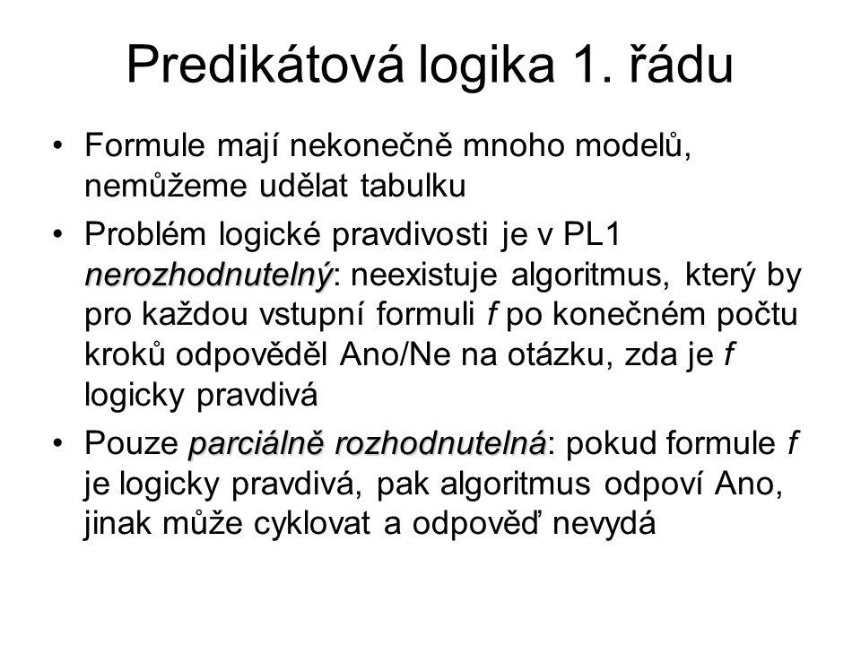 Predikátová logika 1. řádu