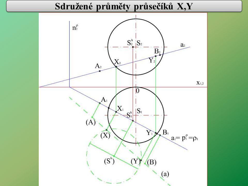 Sdružené průměty průsečíků X,Y