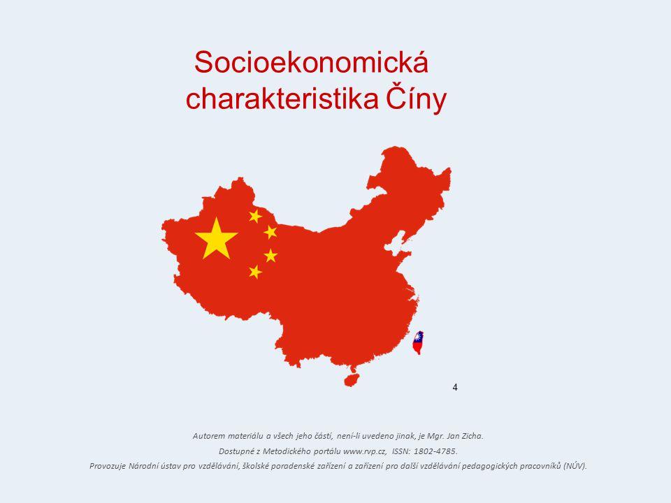 Socioekonomická charakteristika Číny 4