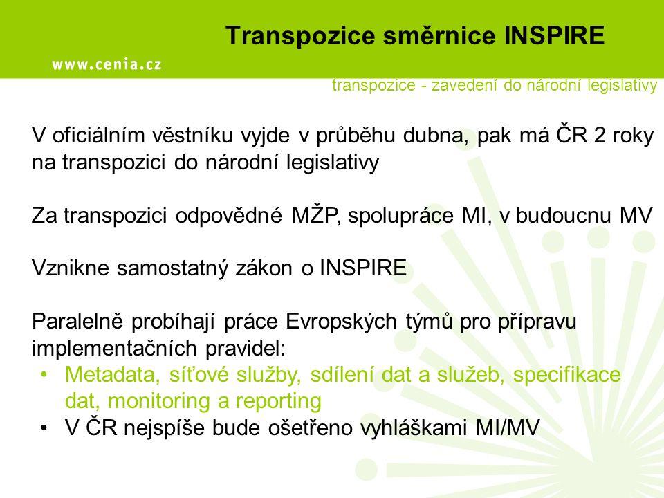 Transpozice směrnice INSPIRE