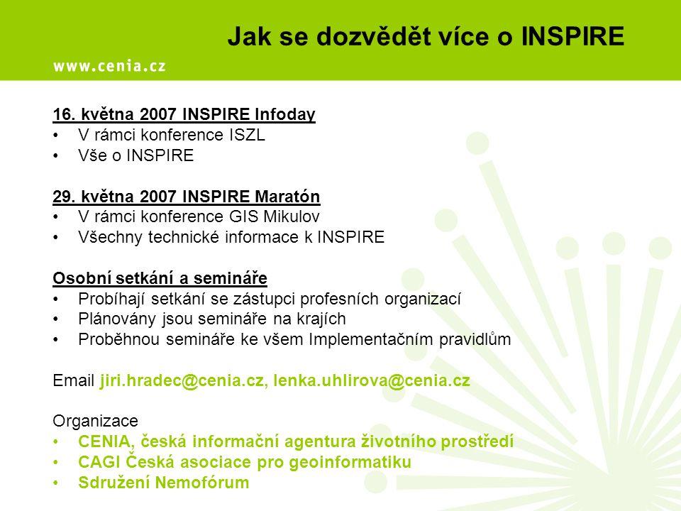 Jak se dozvědět více o INSPIRE
