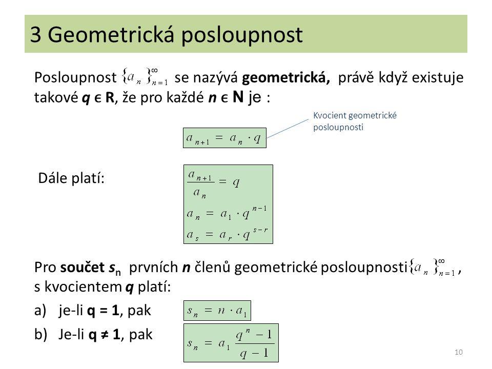3 Geometrická posloupnost