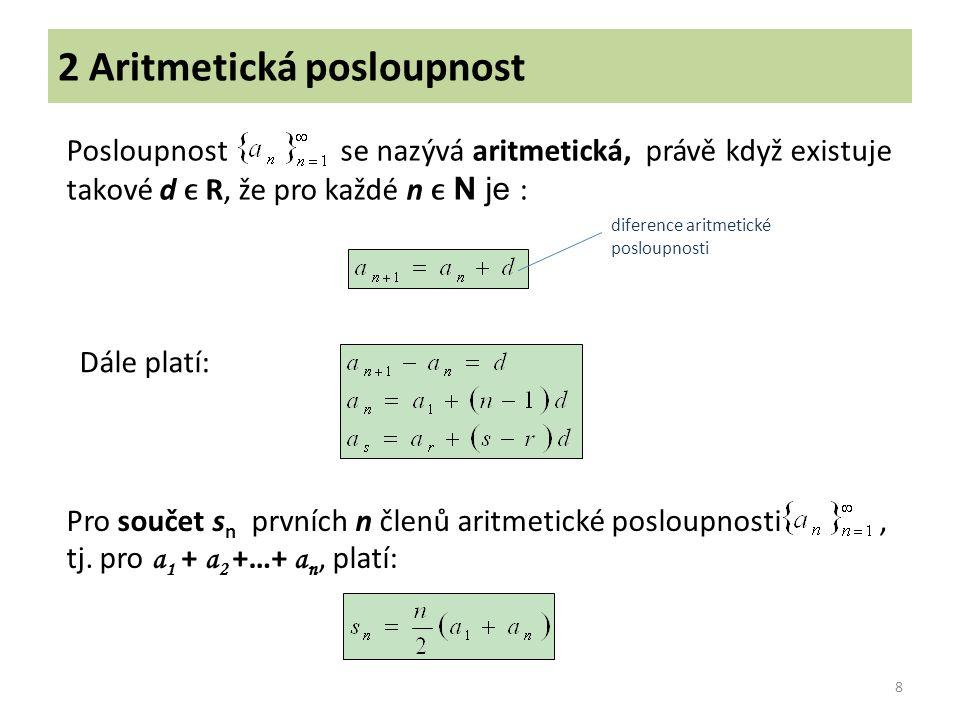 2 Aritmetická posloupnost