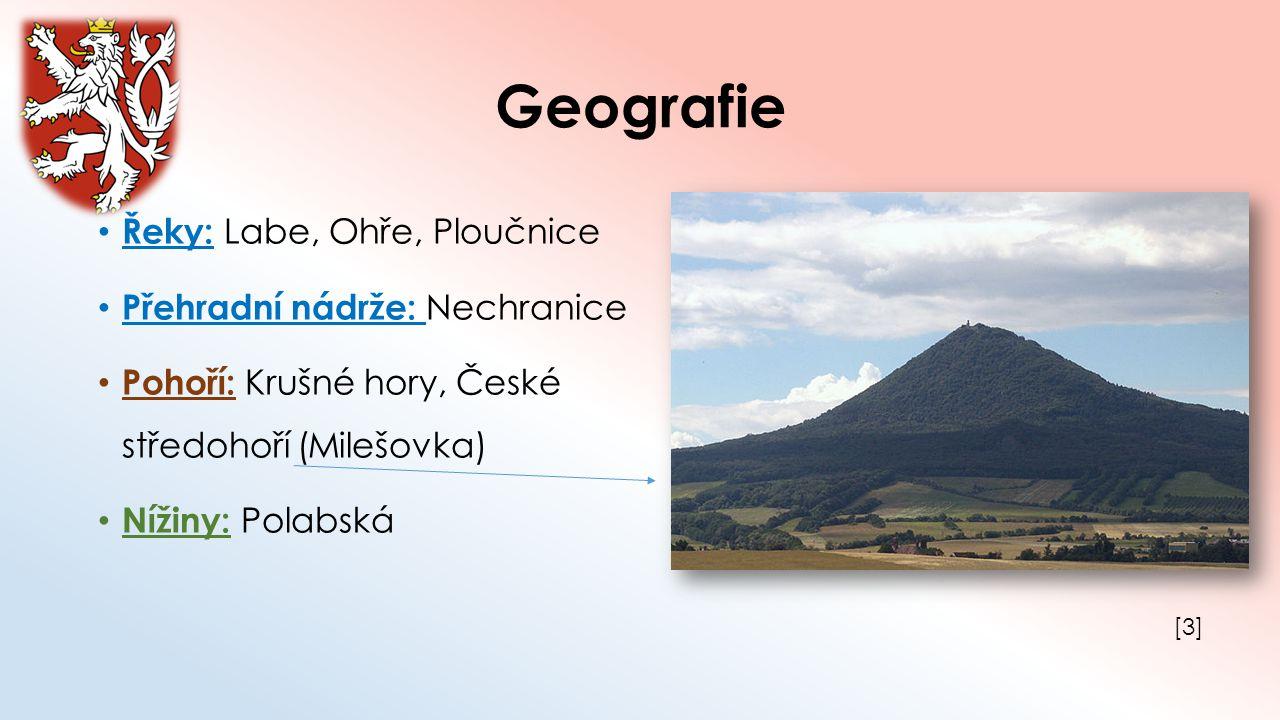 Geografie Řeky: Labe, Ohře, Ploučnice Přehradní nádrže: Nechranice