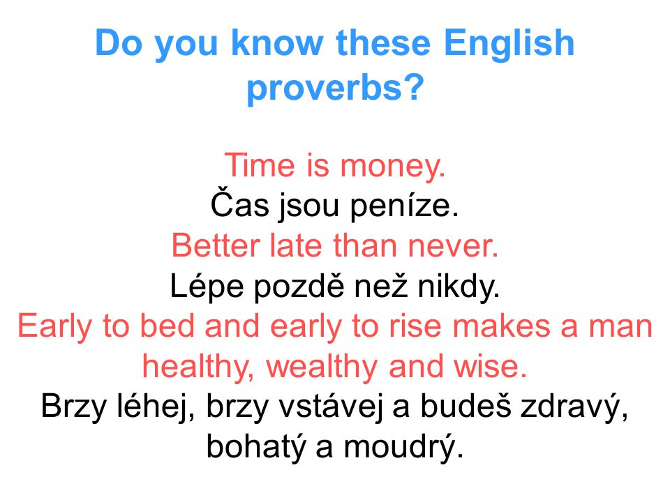 Do you know these English proverbs