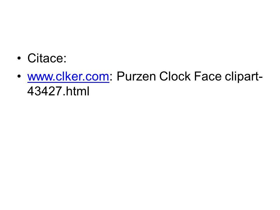 Citace: www.clker.com: Purzen Clock Face clipart-43427.html