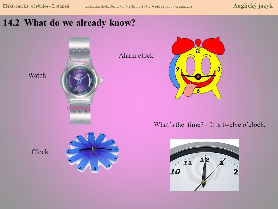 14.2 What do we already know Alarm clock Watch