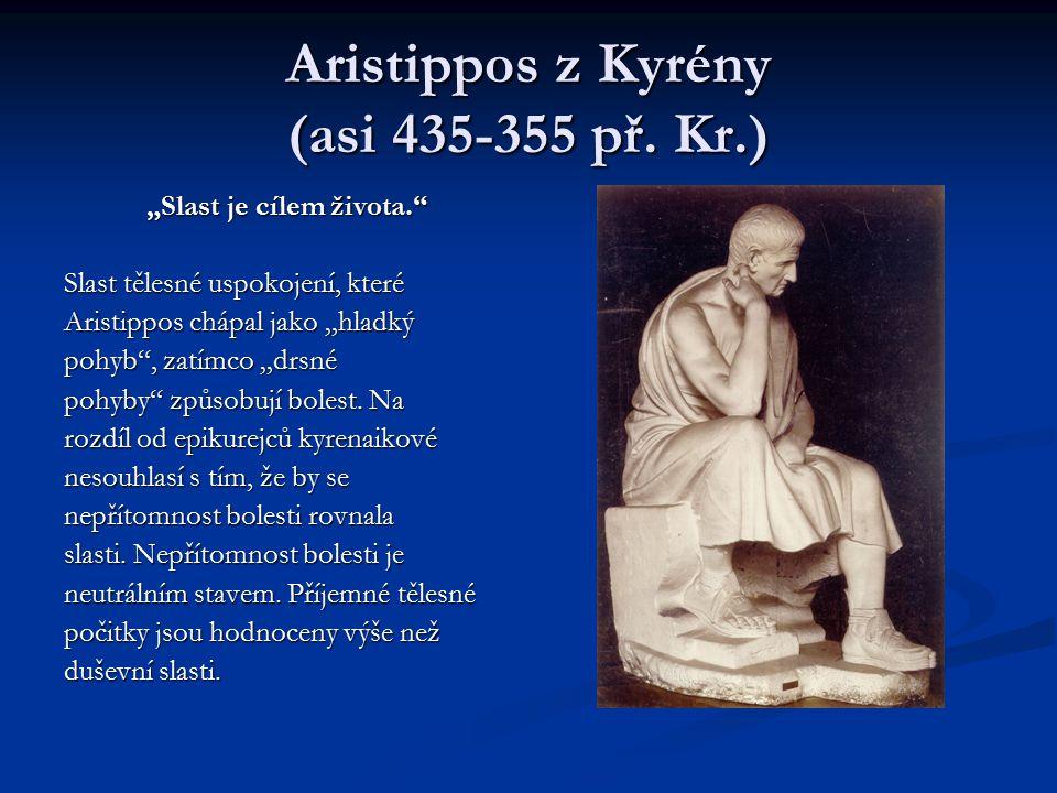 Aristippos z Kyrény (asi 435-355 př. Kr.)