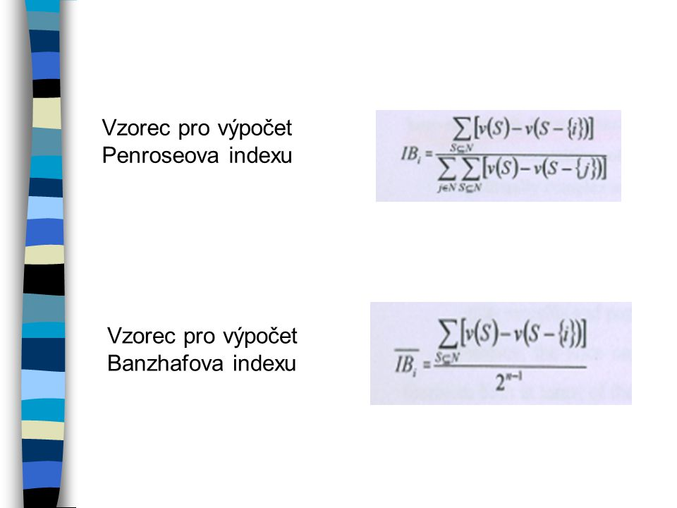 Vzorec pro výpočet Penroseova indexu