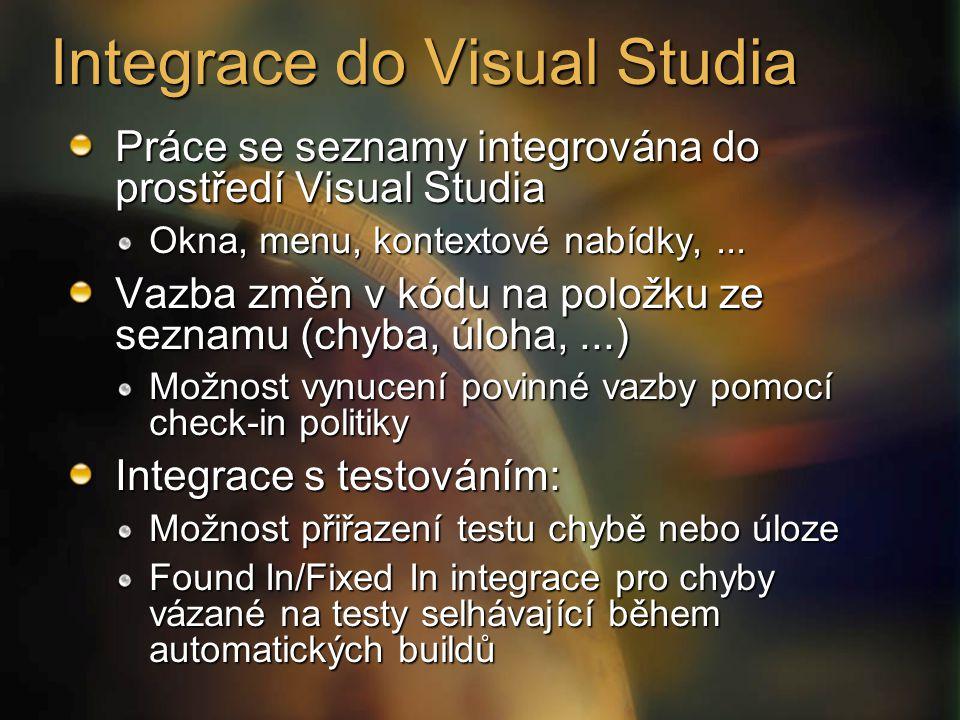 Integrace do Visual Studia