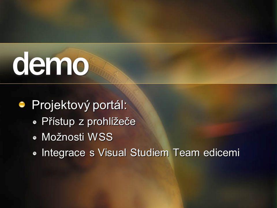 Projektový portál: Přístup z prohlížeče Možnosti WSS