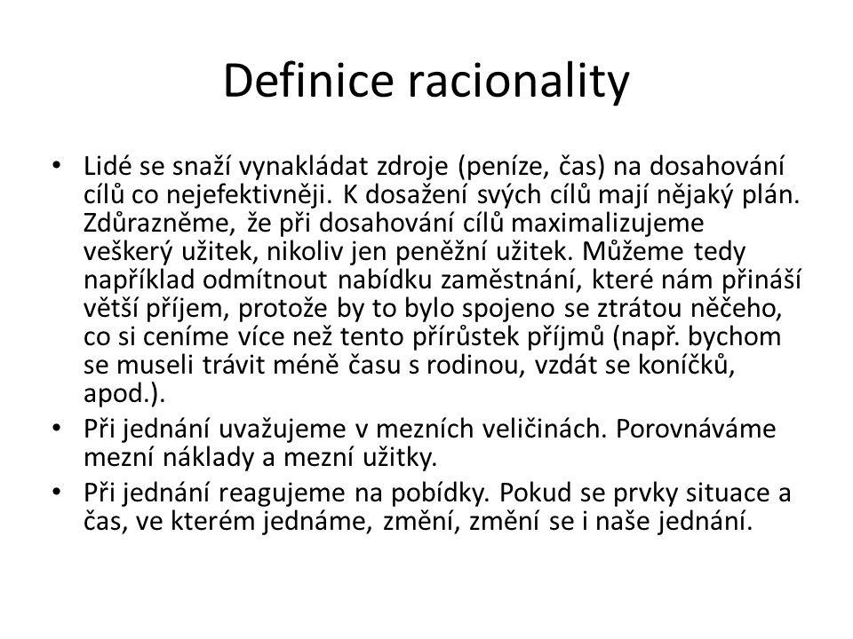 Definice racionality