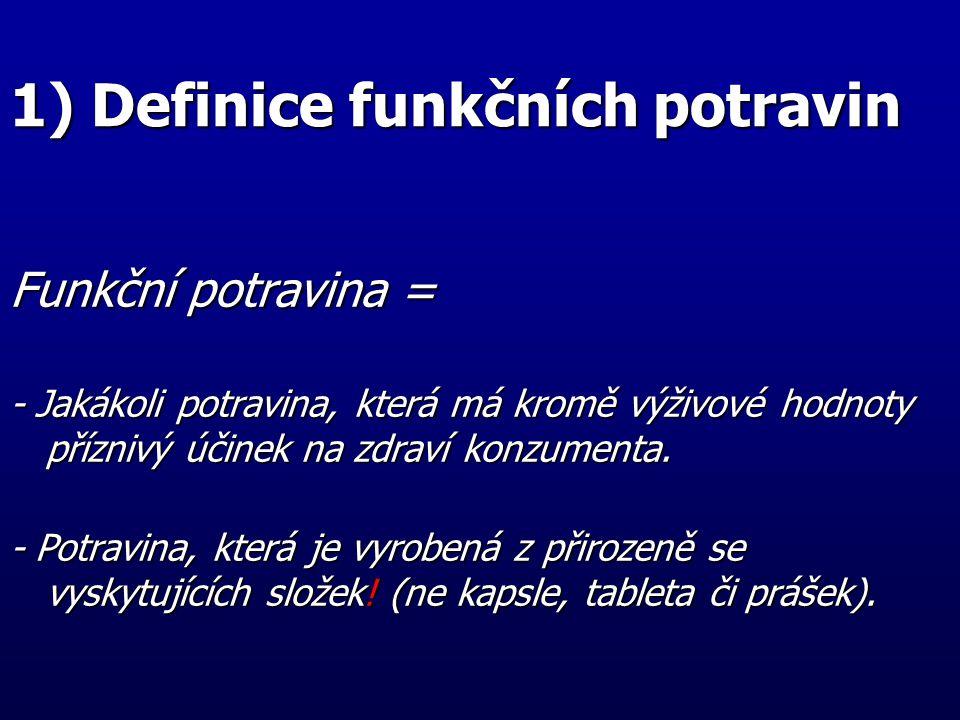 1) Definice funkčních potravin