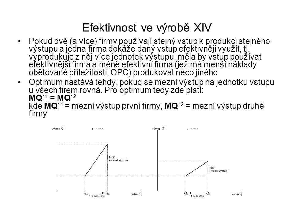 Efektivnost ve výrobě XIV