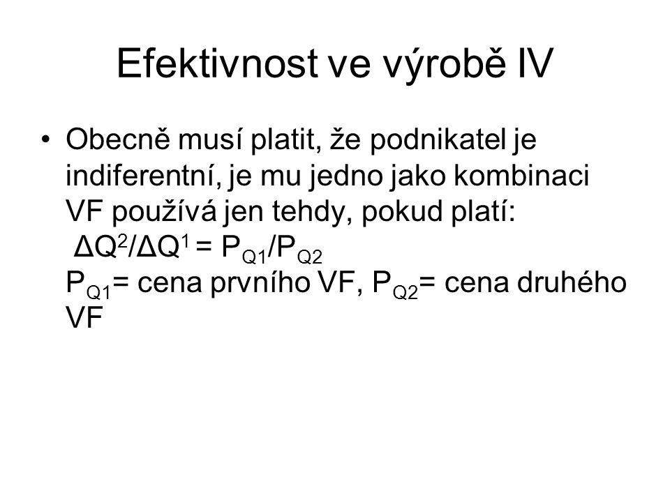 Efektivnost ve výrobě IV