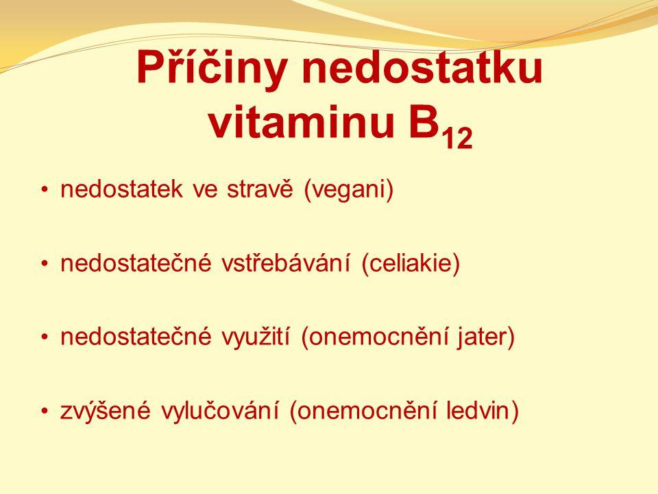 Příčiny nedostatku vitaminu B12