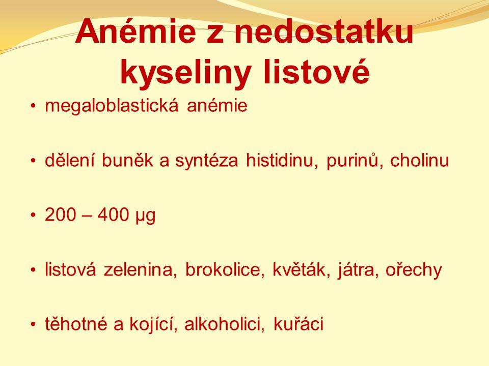 Anémie z nedostatku kyseliny listové