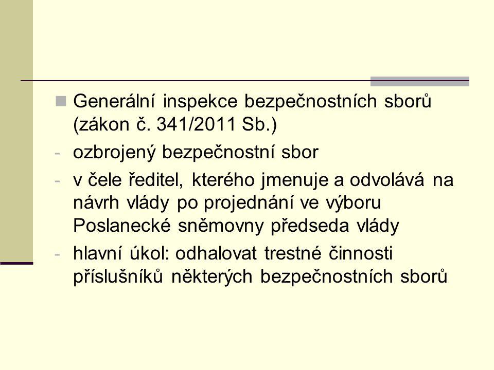Generální inspekce bezpečnostních sborů (zákon č. 341/2011 Sb.)