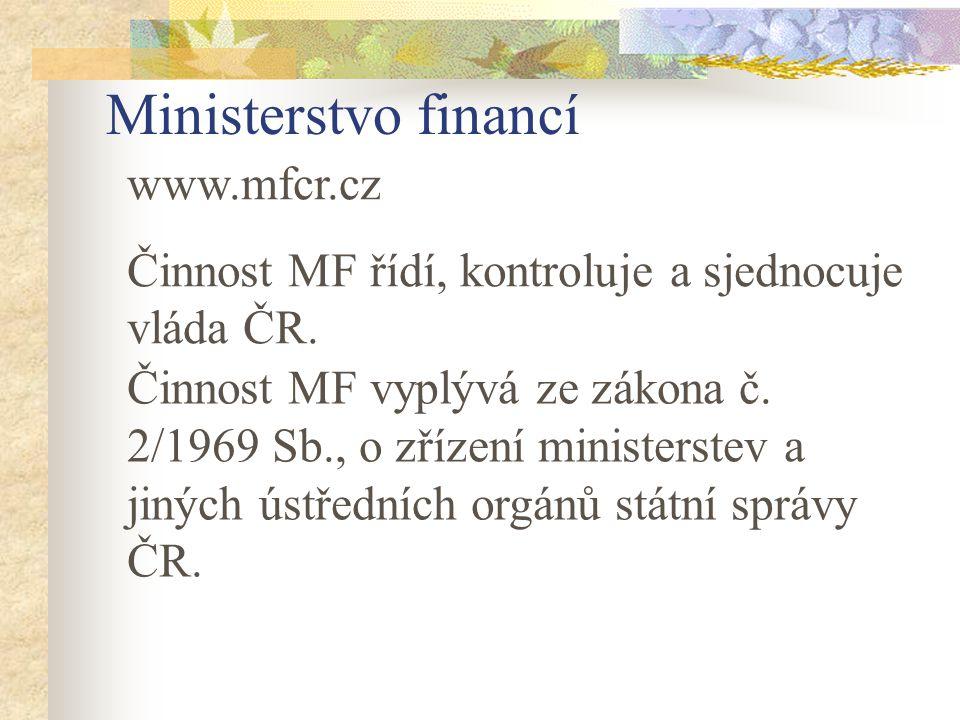 Ministerstvo financí www.mfcr.cz