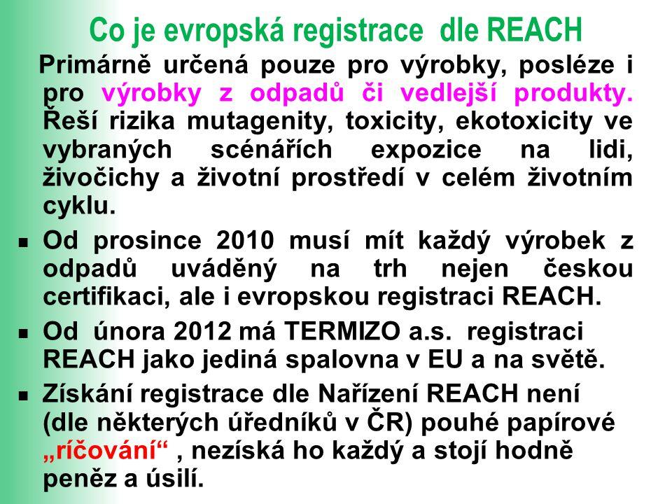 Co je evropská registrace dle REACH