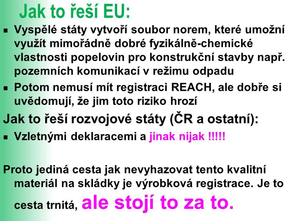Jak to řeší EU: Jak to řeší rozvojové státy (ČR a ostatní):