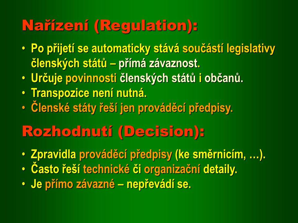 Nařízení (Regulation):