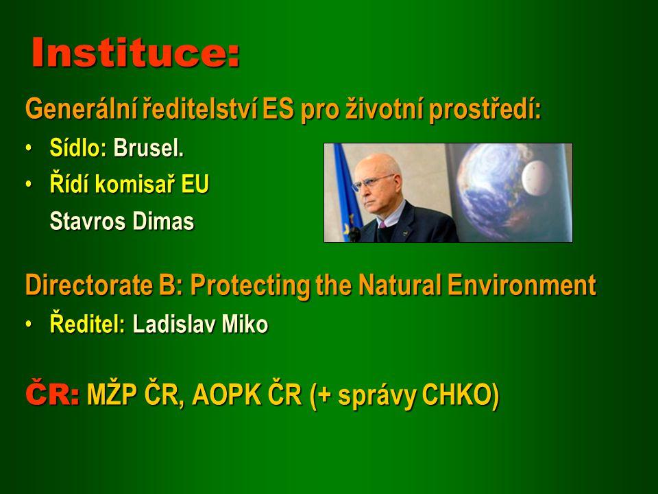 Instituce: Generální ředitelství ES pro životní prostředí: