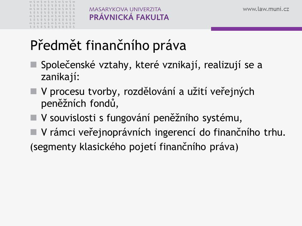Předmět finančního práva