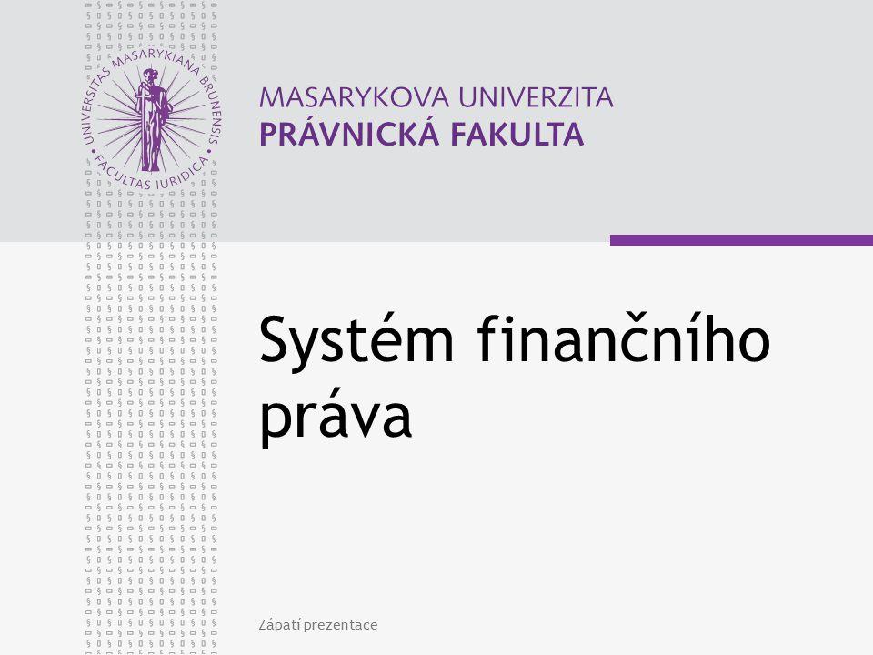 Systém finančního práva