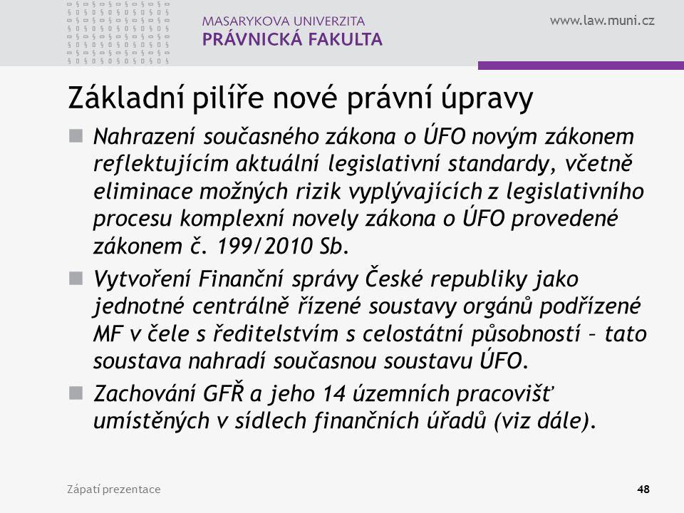 Základní pilíře nové právní úpravy